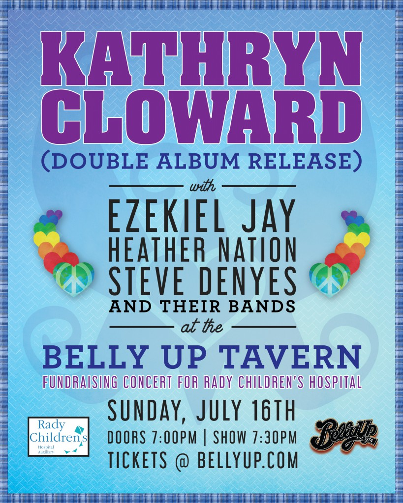 Kathryn Cloward at Belly Up Tavern July 16, 2017 Rady Children's Hospital