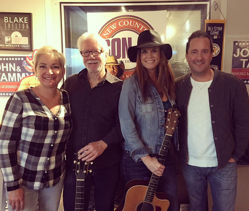 Kathryn Cloward with John and Tammy on KSON Radio
