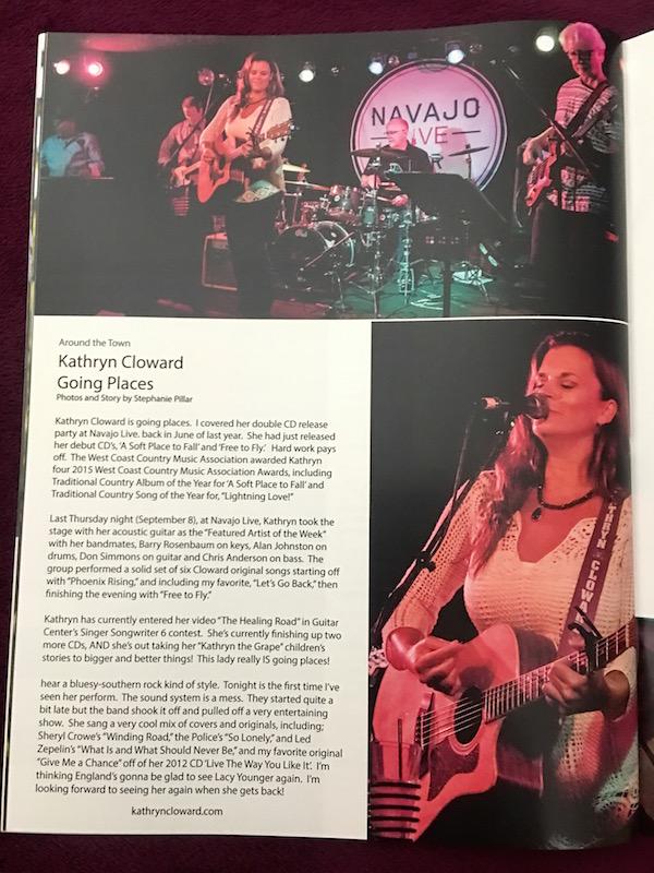 Kathryn Cloward in Boogie Magazine.inside