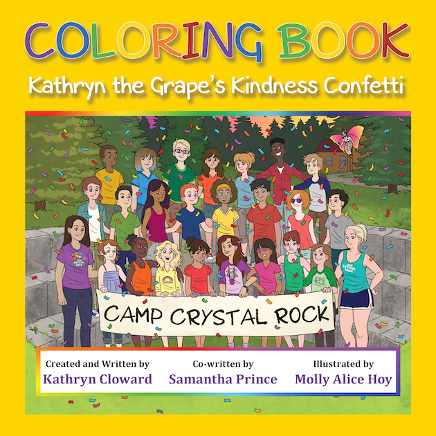 Coloring Book Kathryn the Grape's Kindness Confetti by Kathryn Cloward