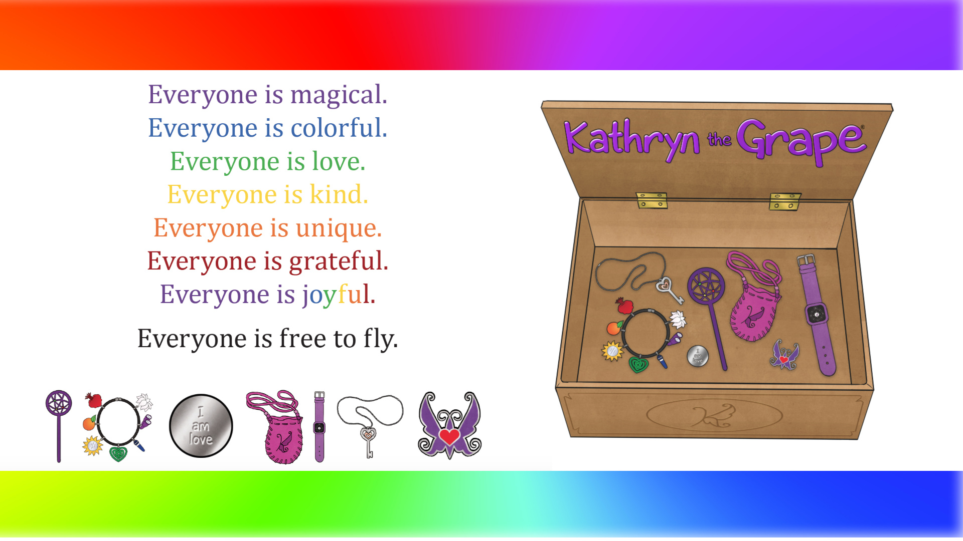 Kathryn the Grape Treasure Box with Tools of Love (created by Kathryn Cloward) 1920 x 1080