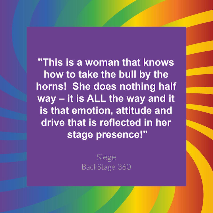 Siege Backstage 360 Quote about Kathryn Cloward