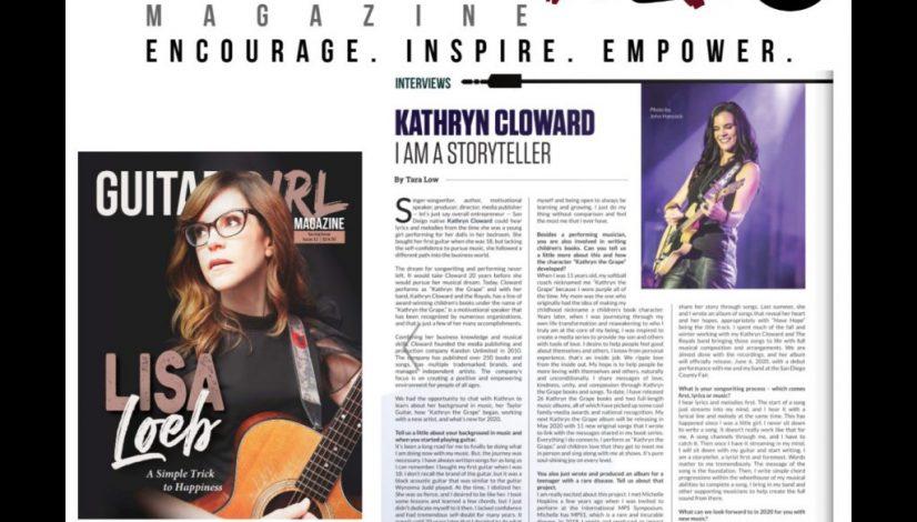 Kathryn Cloward I Am a Storyteller page 64 Guitar Girl Magazine 1400 x 1400