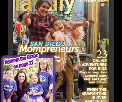 Kathryn the Grape Kathryn Cloward Featured in San Diego Family Magazine