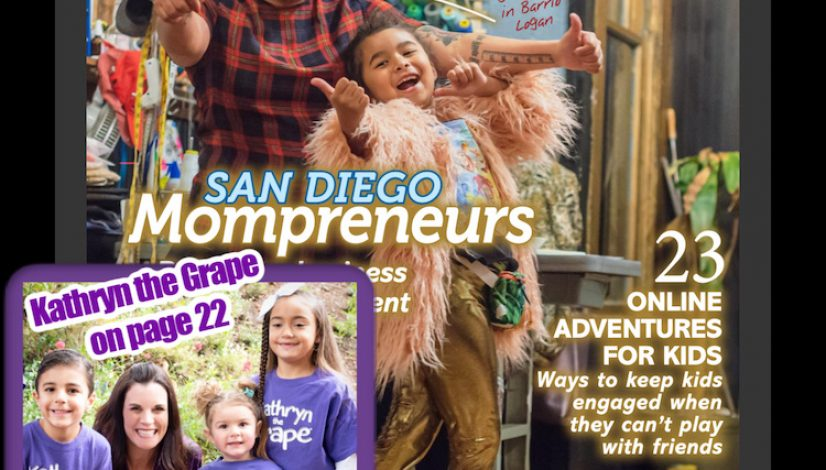 Kathryn the Grape Kathryn Cloward Featured in San Diego Family Magazine