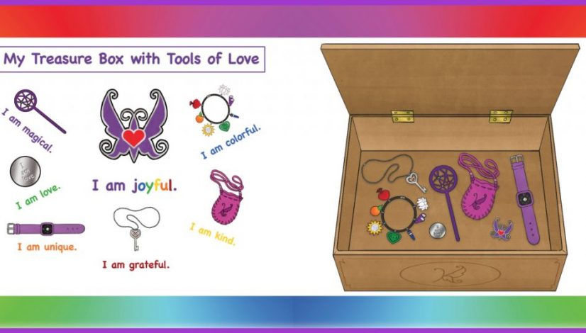 Kathryn the Grape Treasure Box with Tools of Love