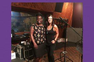 Kathryn Cloward and Divine recording studio refugee advocacy