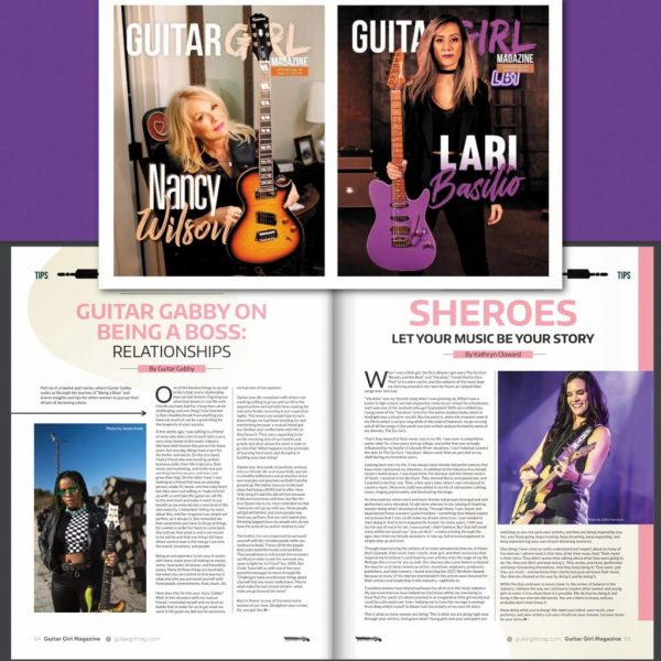Kathryn Cloward in Guitar Girl Magazine Spring 2021 Sheroes Let Your Music Be Your Story