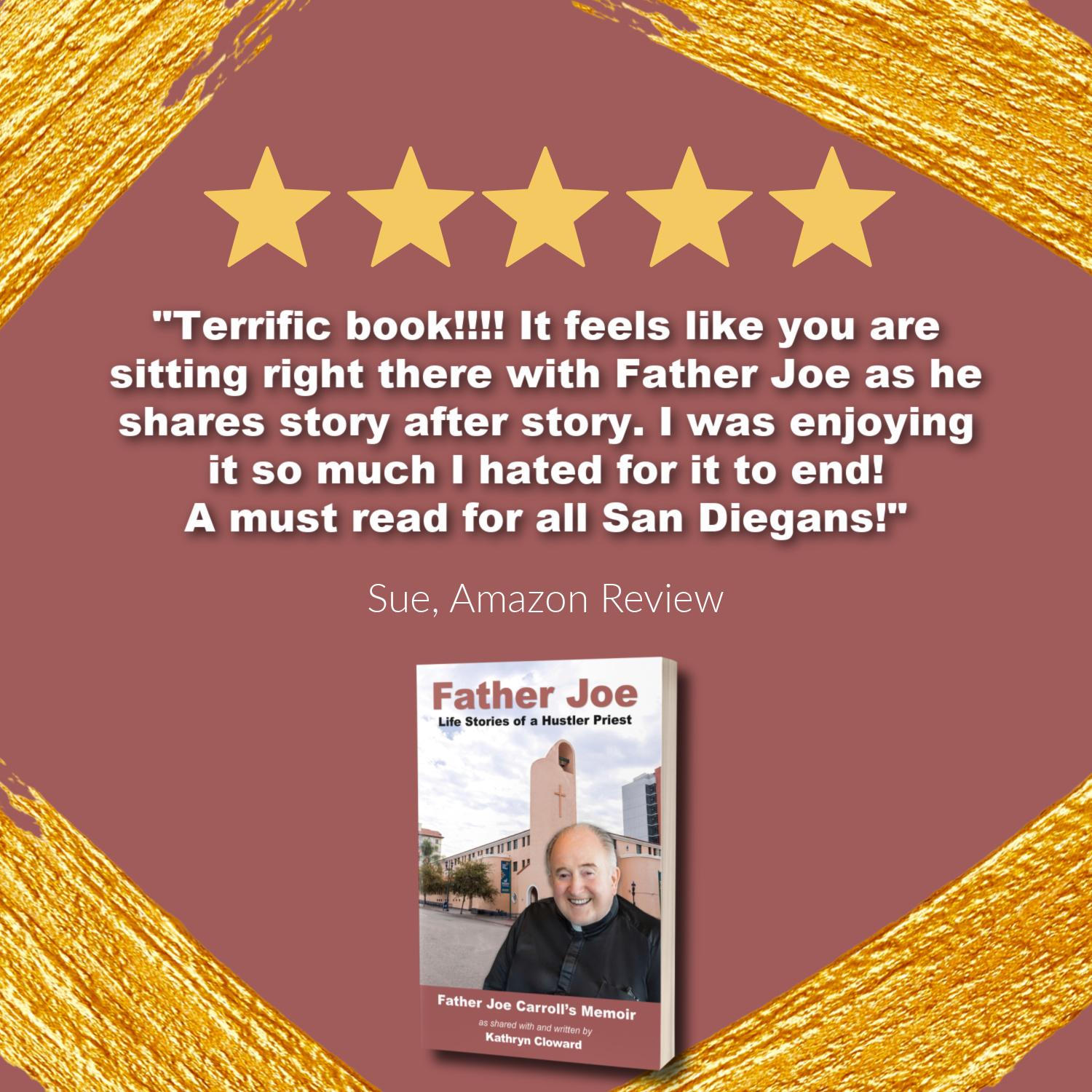 Father Joe Life Stories of a hustler priest Amazon review by Kathryn Cloward
