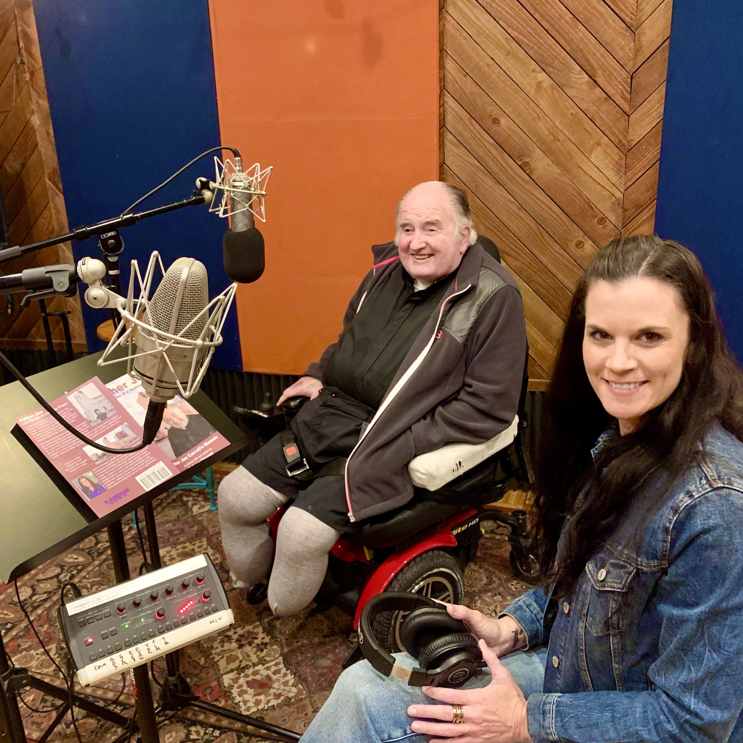 Father Joe and Kathryn Cloward Recording Father Joe Life Stories of a Hustler Priest San Diego Audible
